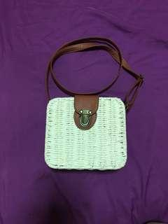 12.12 sales Rattan Sling Bag