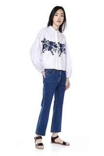 The Editor's Market Benecia Embroidered Crop Blouse