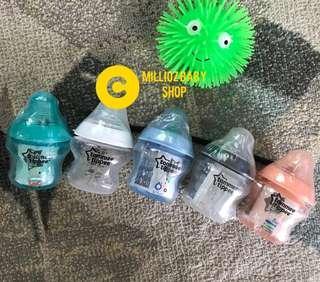 Tommee Tippee COLORFUL 5oz Bottles (Botol Susu) #MY1212