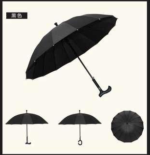 全新 拐杖遮 雨傘