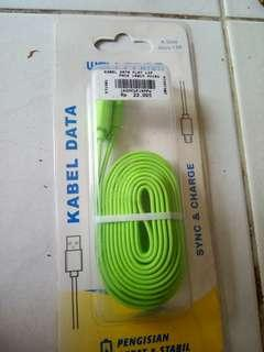 Jual kabel data merk welcomm 1,5 meter