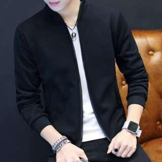 🔥In Stock Black Bomber Jacket Men Korean Fashion🔥