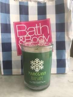 *NEW* BATH & BODY WORKS Mahogany Balsam Scented Candle