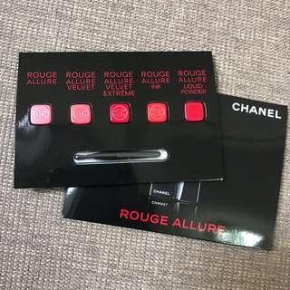 Chanel lipstick sample 5色唇膏 連唇掃 lip palette