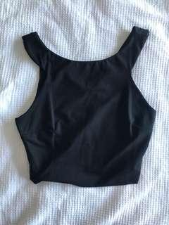 Forever new black crop. Worn once size 6