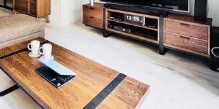 Commune Tv Console and Coffee Table