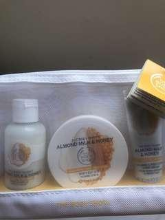 BNEW The Body Shop Almond Milk & Honey Delights Bag (Sealed)