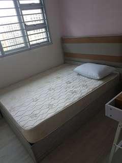 Queen bedframe + mattress