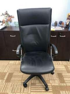 Office chair black leather 真皮大班椅