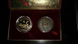 Spore Snake 2001 Yr 10$ UNC 2xcoin