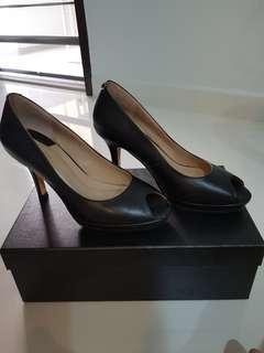 Full leather black heels