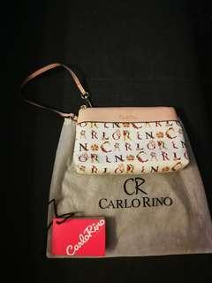 Preloved Carlo Rino Pink wristlet/clutch
