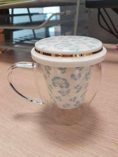 Porcelain and glass tea cup