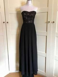 Evening Gown/ tube gown/ tube lace maxi dress/ tube dress/ prom dress/ dnd dress/ evening gown/ lace dress/ Long dress/ black gown/ black tube gown/ black tube dress/ black long dress
