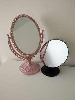Vanity table mirror