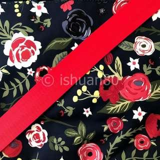 1.5 inch red seat belt strap for jujube