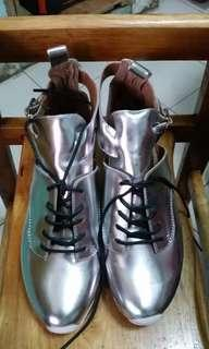 Handmade Ibiza Jeffrey Campbell Silver Shoes
