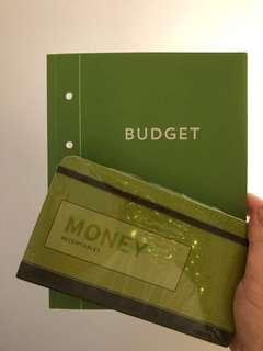 Budgeting notebook & money receiptables ( Great for New Year 💚)