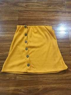 Yellow Button Down Skirt