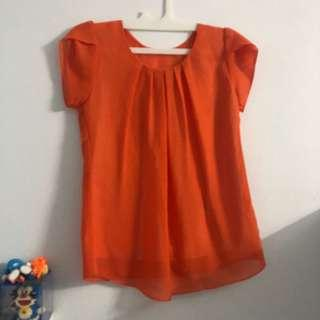 blouse orange