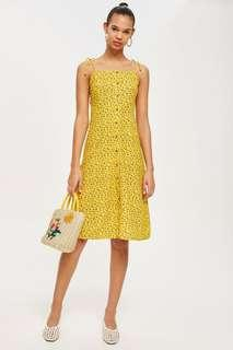 New BNWT Topshop Ditsy Button Dress