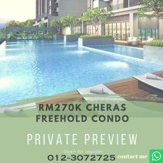 Cheras Bandar Tun Hussein Onn Condo for sell