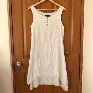 Off-white Linen Dress