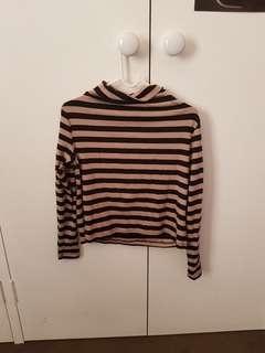 Kookai Striped Turtleneck Top