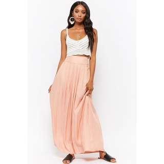 🚚 BNWT Forever 21 Pleated Maxi Skirt