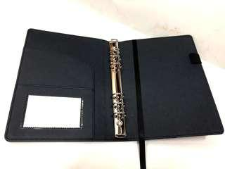 A5-6 ring-Folder {dark blue and black}-Condition: 9.5/10