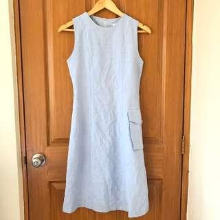 Soft Denim Midi Dress