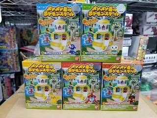 特價絕版 Bandai 寵物小精靈 精靈寶可夢 比卡超 pokamon pikachu 美樂美樂島 情境組合 一套全5款 第1彈
