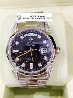 Rolex 118296 Platinum day-date