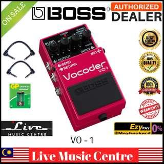 Boss VO-1 Vocoder Guitar Effect Pedal With Patch Cable (VO1)