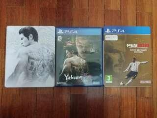PS4 PES 2019 DB Edition & Yakuza Kiwami 2 Steelbox