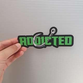 ADDICTED vinyl sticker