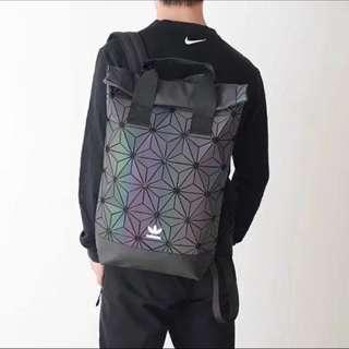 3D Roll Top Backpack ( White / Red  / Rainbow )