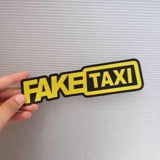 FAKE TAXI vinyl sticker