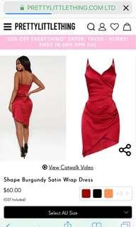 Wrap red dress (pretty little thing)