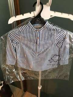 Zara boys stripe shirt