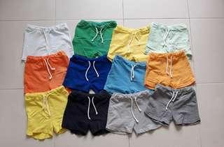 Preloved Baby/Toddler/Kids Unisex Assorted Colour Cotton Shorts with String