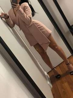 Pink blazer playsuit/dress