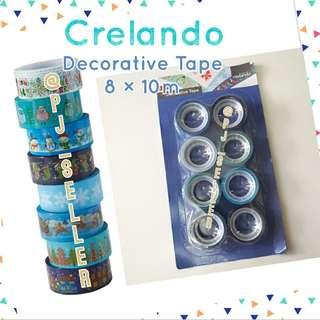 Crelando Decorative Tape 聖誕包裝/裝飾 膠紙卷 8×10M (Blue)