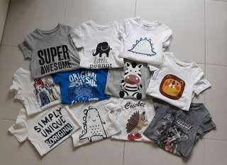 Preloved Unisex Baby/Toddler/Kids Cotton T-shirt/Tees