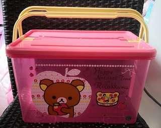 [Instock] Rilakkuma Pink Storage Box