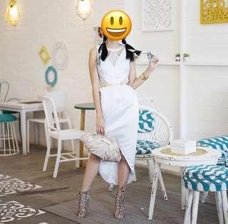 White dress theresa debby