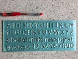 Lettering & Numbers Stencil