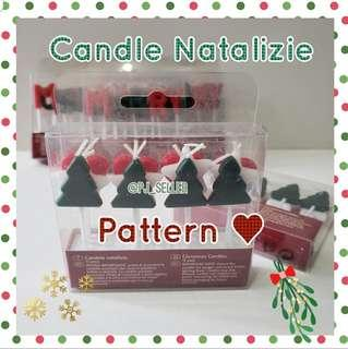 Candle Natalizie Christmas Pattern candles  聖誕蠟燭裝飾