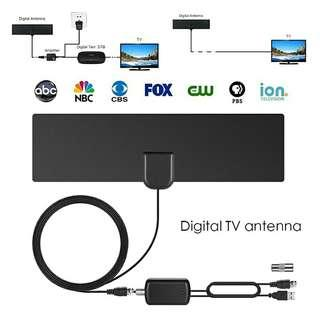HDTV 1080P 80 miles digital indoor tv antenna with signal amplifier booste