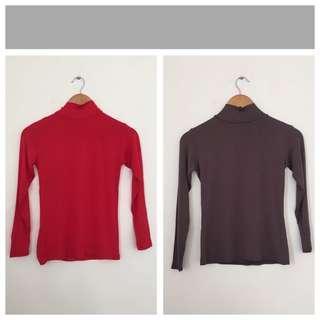 Thin Turtleneck Top (thin cotton type)